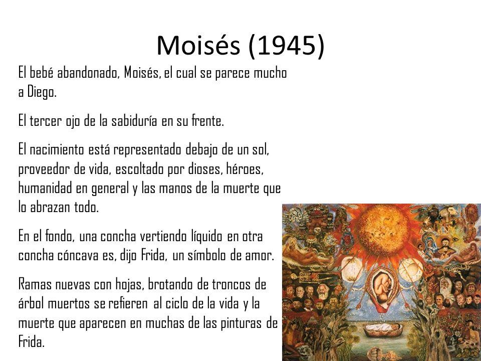 Moisés (1945) El bebé abandonado, Moisés, el cual se parece mucho a Diego. El tercer ojo de la sabiduría en su frente. El nacimiento está representado