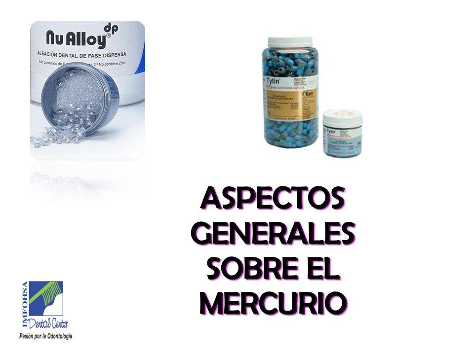 PROPIEDADES DEL MERCURIO * Insoluble en agua (<0,1%).