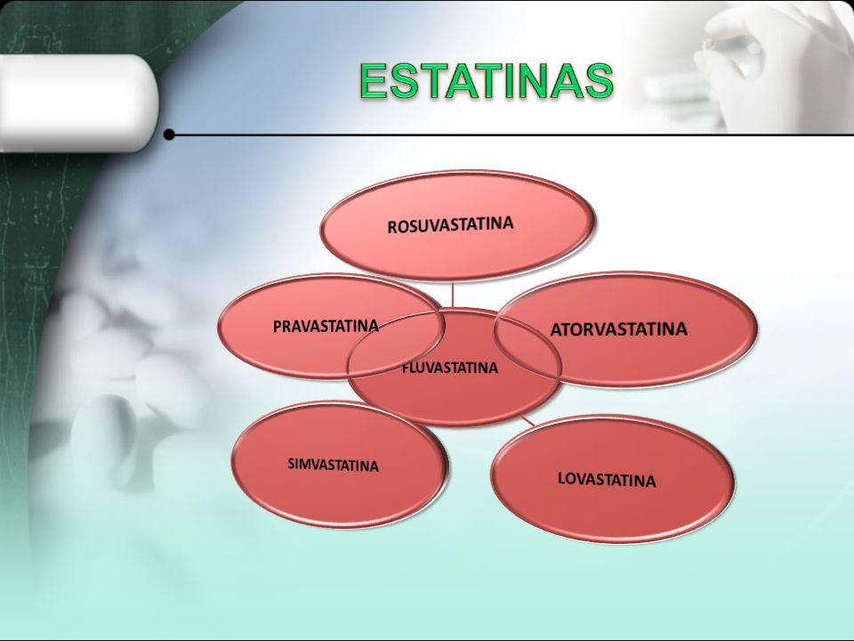 DE COLESTEROL 1-ESTATINAS 2-INHIBIDORES DE LA ABSORCION DE COLESTEROL REDUCTORES 3-SECUESTRANTES DE ACIDOS BILIARES RESINAS 4.ACIDO NICOTINICO 5. FIBR