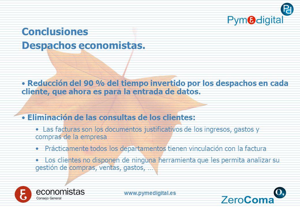 www.pymedigital.es Conclusiones Despachos economistas.