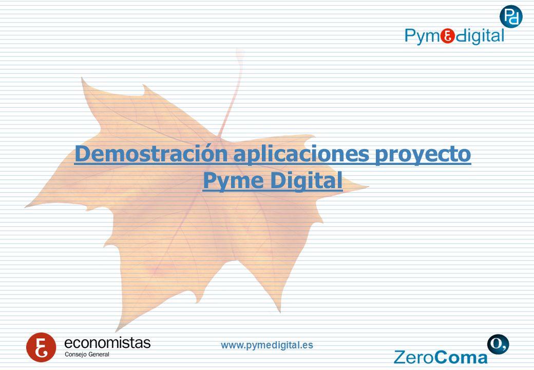www.pymedigital.es Demostración aplicaciones proyecto Pyme Digital