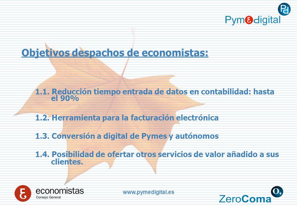 www.pymedigital.es Objetivos despachos de economistas: 1.1.