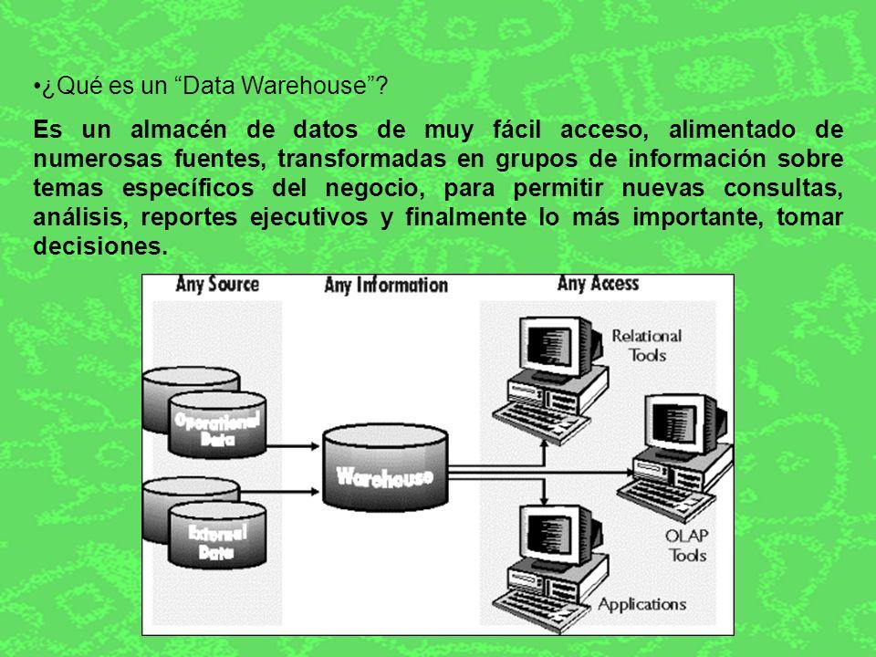 Un sistema de Data Warehouse permite transformar datos o información bruta en información con sentido y extremadamente útil.