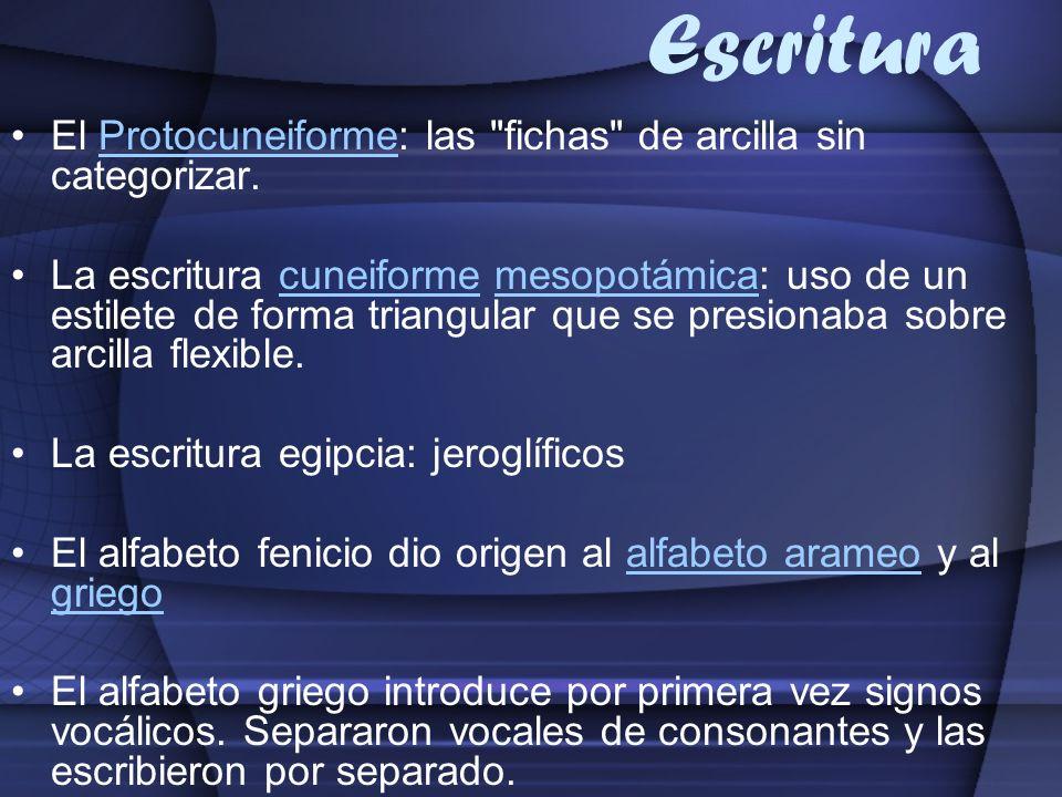 Escritura El Protocuneiforme: las
