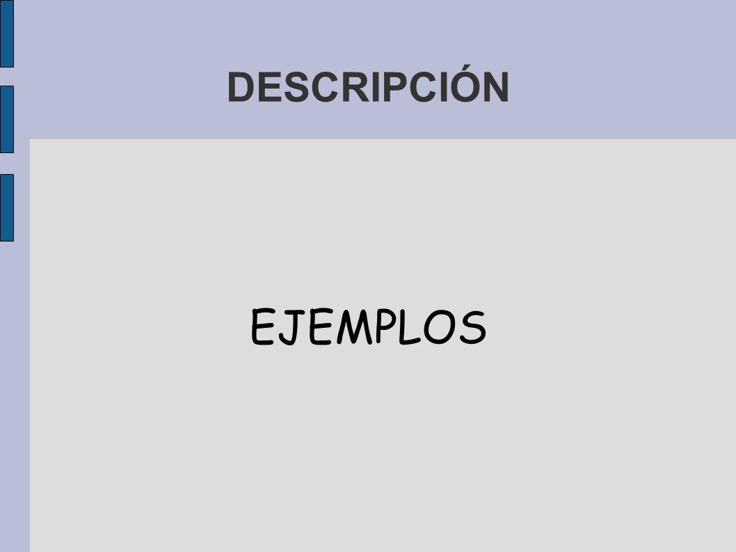DESCRIPCIÓN EJEMPLOS