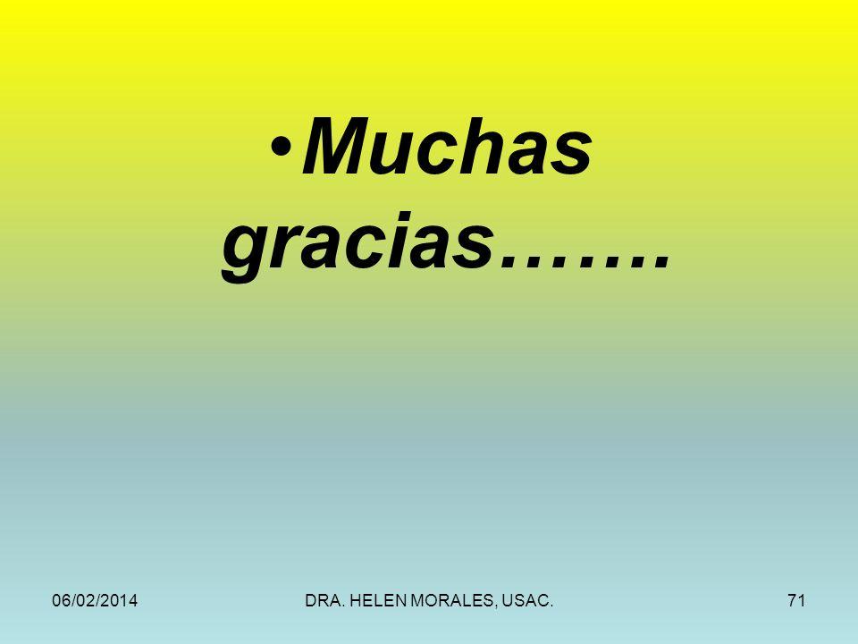 06/02/2014DRA. HELEN MORALES, USAC.71 Muchas gracias…….
