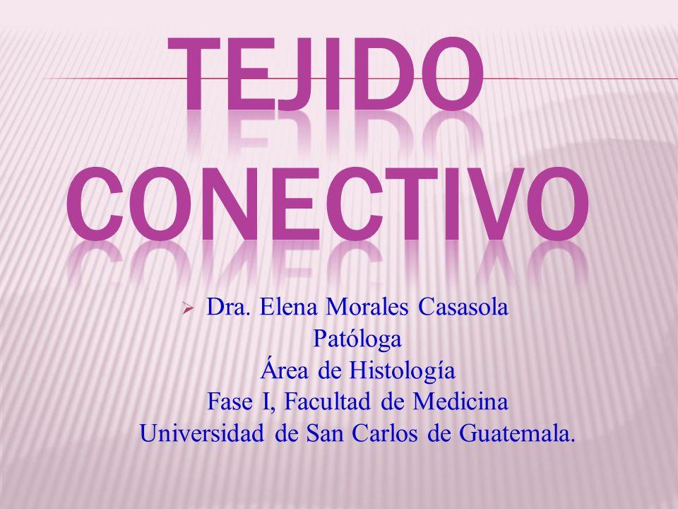 Dra. Elena Morales Casasola Patóloga Área de Histología Fase I, Facultad de Medicina Universidad de San Carlos de Guatemala.