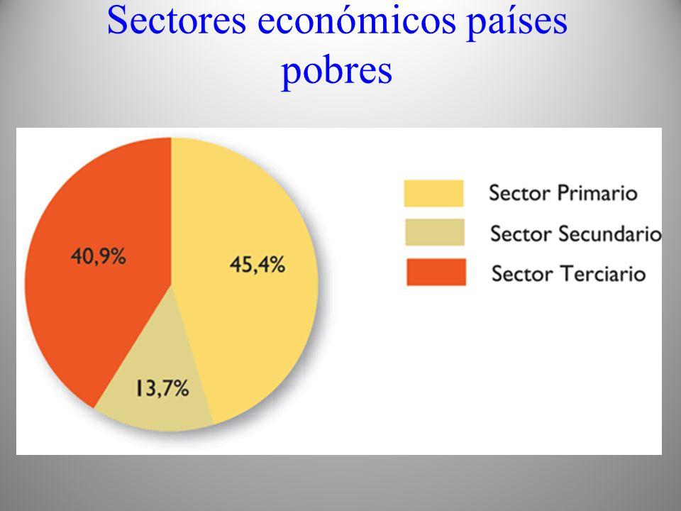 Sectores económicos países pobres