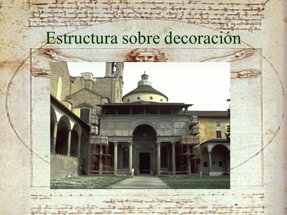 Estructura sobre decoración