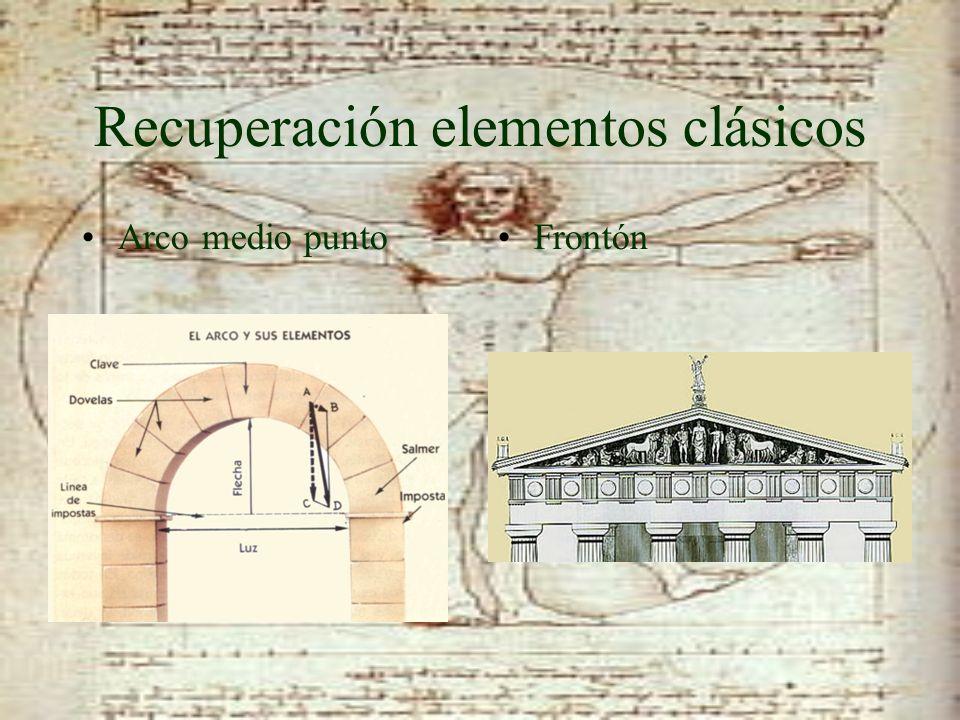 Recuperación elementos clásicos Arco medio puntoFrontón