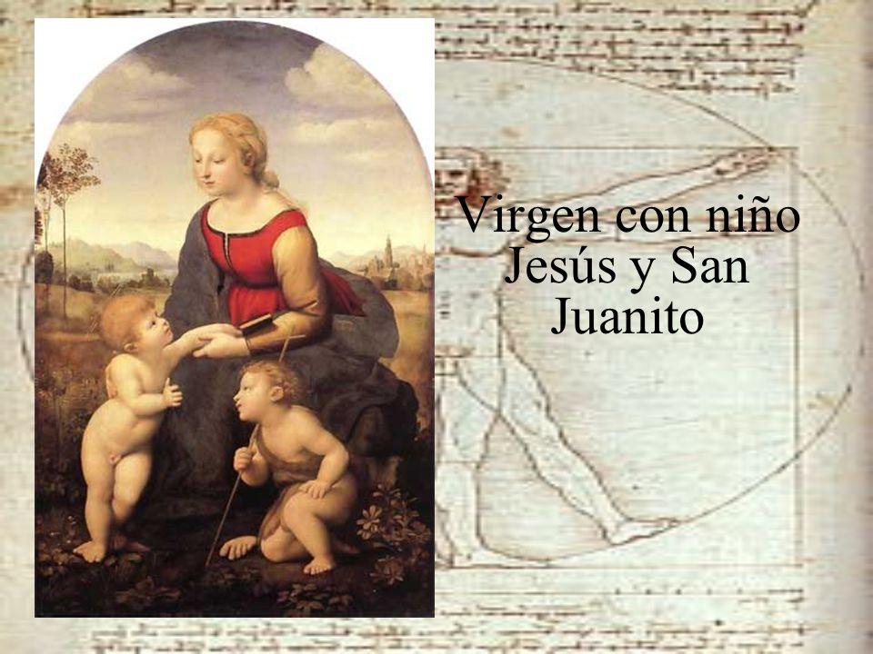 Virgen con niño Jesús y San Juanito