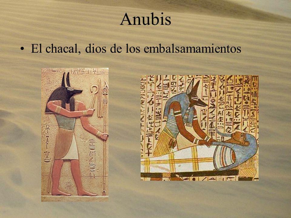 Anubis El chacal, dios de los embalsamamientos