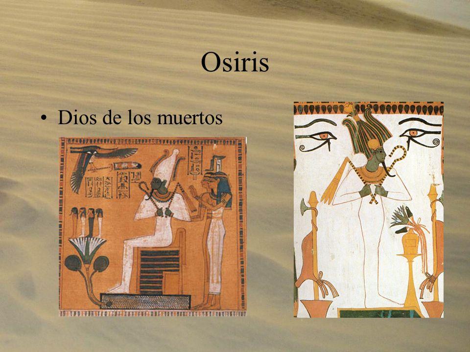 Osiris Dios de los muertos