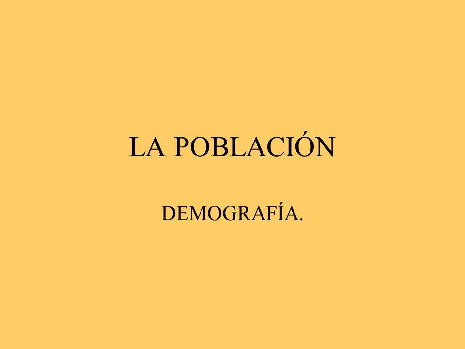 LA POBLACIÓN DEMOGRAFÍA.