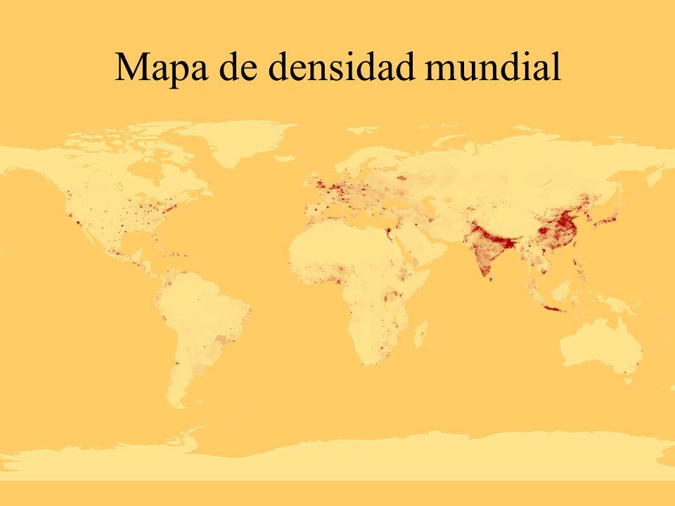 Mapa de densidad mundial