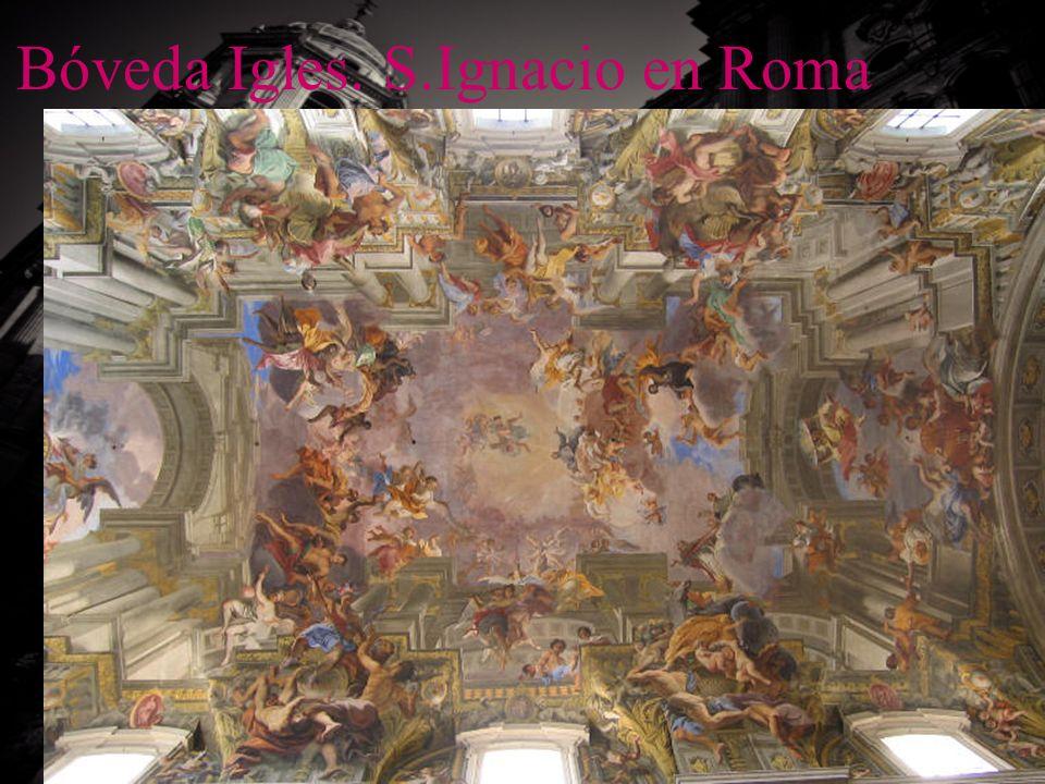 Bóveda Igles. S.Ignacio en Roma