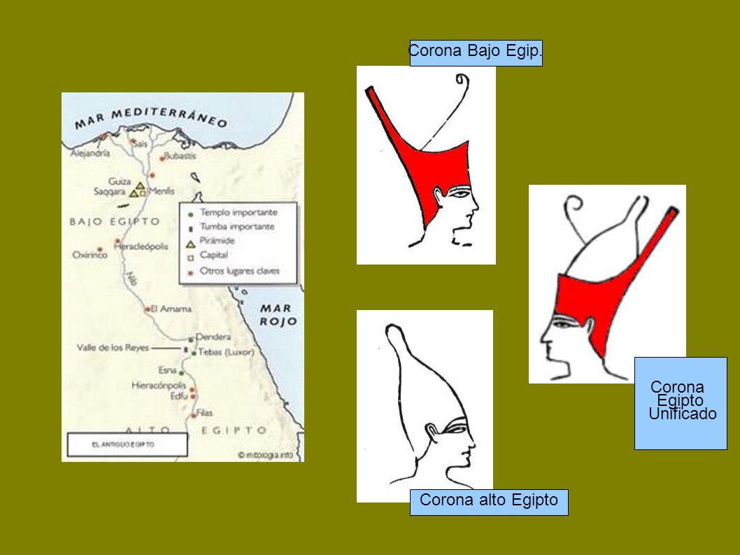 Corona Bajo Egip. Corona alto Egipto Corona Egipto Unificado