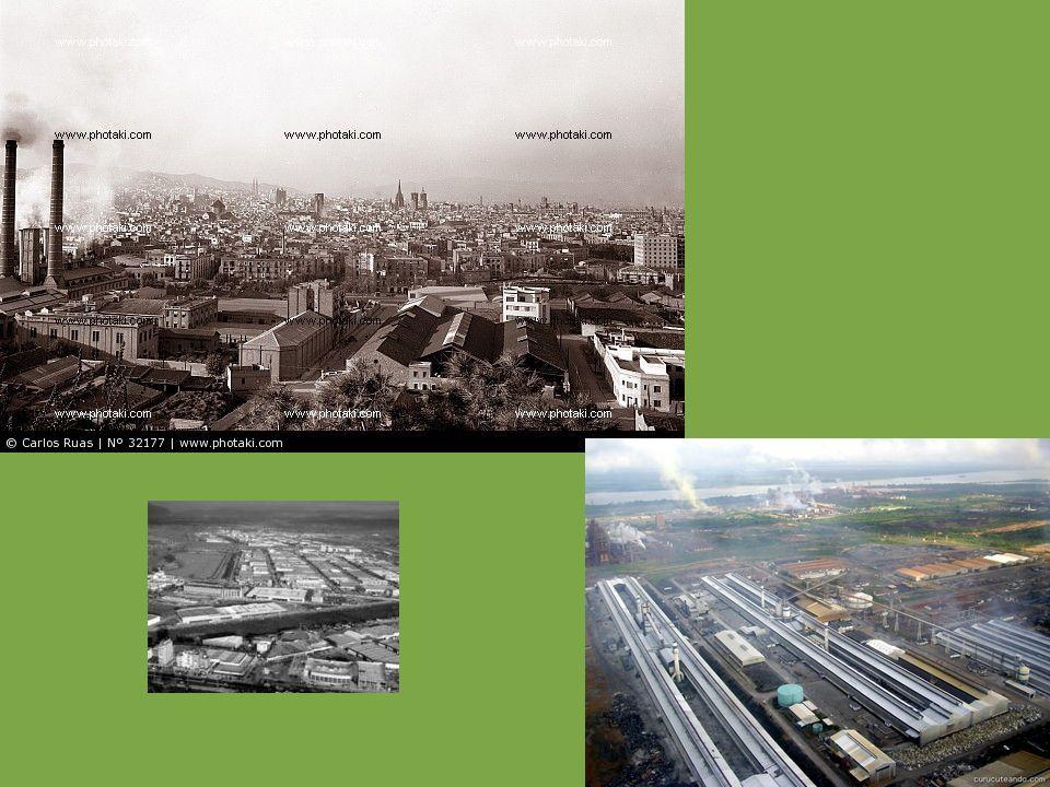 Zona industrial Sector donde se encuentran las instalaciones industriales Se encuentra en zonas periféricas, junto a grandes nudos de transportes (aut