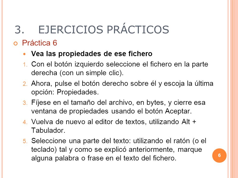 3.EJERCICIOS PRÁCTICOS Cortar el texto seleccionado 1.