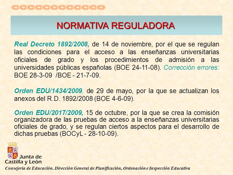 Real Decreto 1892/2008, de 14 de noviembre, por el que se regulan las condiciones para el acceso a las enseñanzas universitarias oficiales de grado y los procedimientos de admisión a las universidades públicas españolas (BOE 24-11-08).