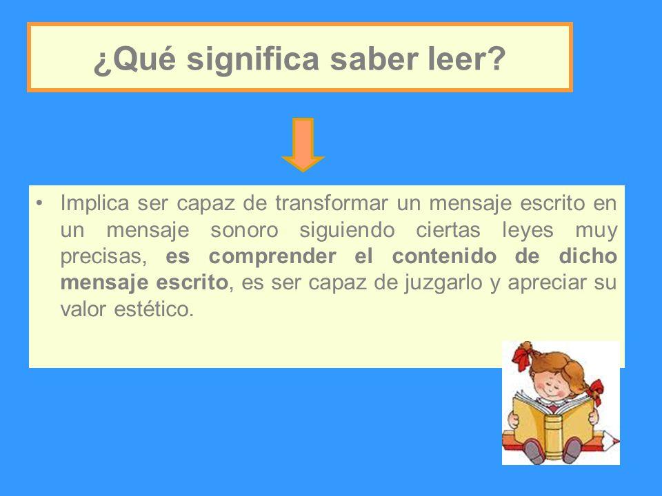 El aprendizaje del sistema alfabético requiere del aprendizaje de reglas de conversión GRAFEMA- FONEMA.
