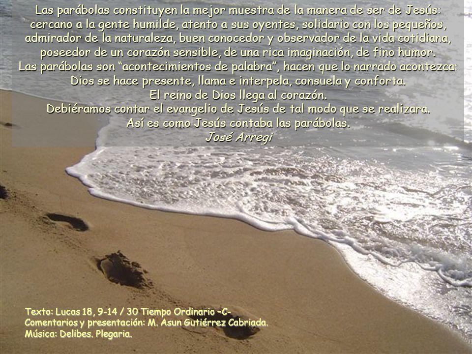 Texto: Lucas 18, 9-14 / 30 Tiempo Ordinario –C- Comentarios y presentación: M.