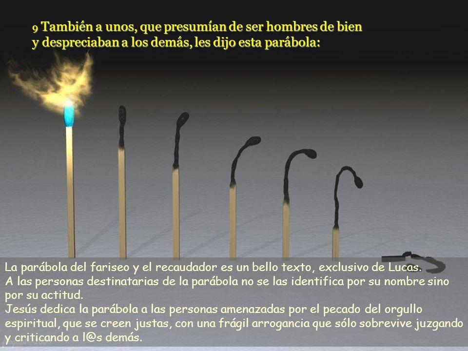 Texto: Lucas 18, 9-14 / 30 Tiempo Ordinario –C- Comentarios y presentación: M. Asun Gutiérrez Cabriada. Música: Delibes. Plegaria. Las parábolas const