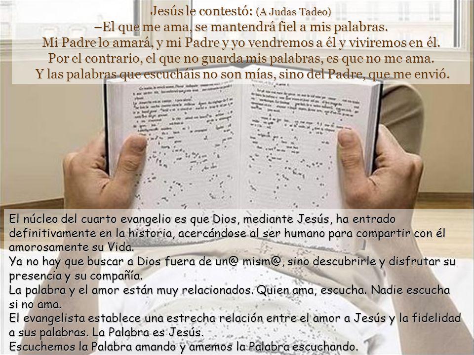 Texto: Juan 14, 23-29. Pascua 6 domingo –C- 5 mayo 2013.