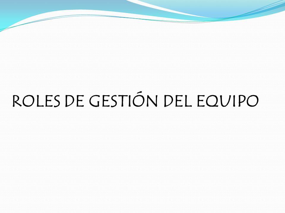 ROLES DE GESTIÓN DEL EQUIPO