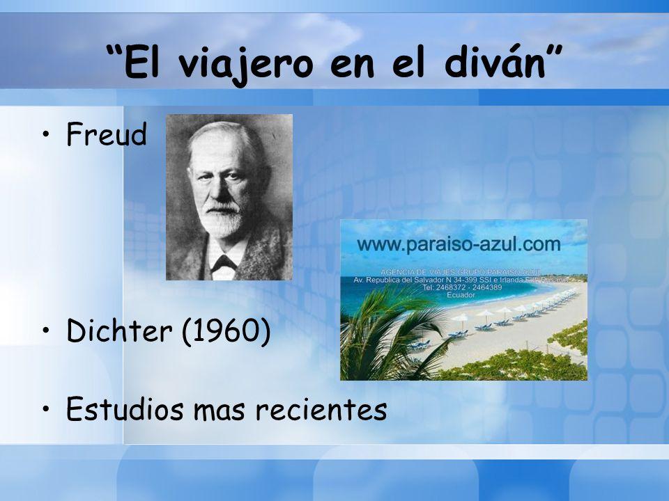 El viajero en el diván Freud Dichter (1960) Estudios mas recientes