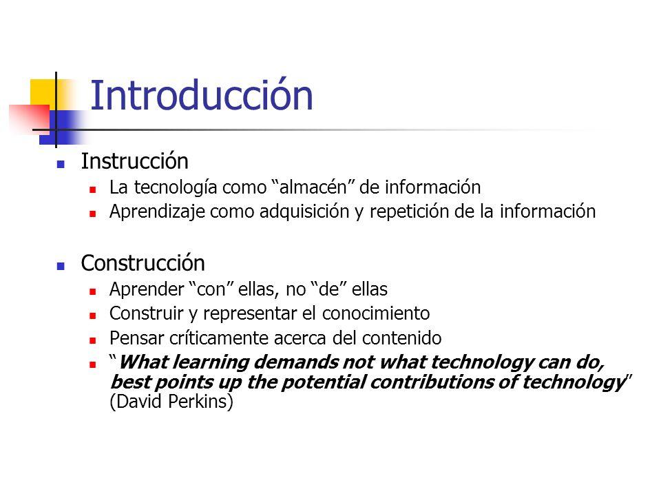 Roles Estudiantes Aplicaciones TIC Diseñadores Herramientas de la mente (para organizar e interpretar su conocimiento)
