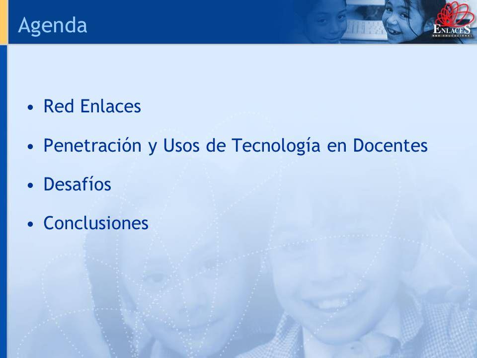 Agenda Red Enlaces Penetración y Usos de Tecnología en Docentes Desafíos Conclusiones