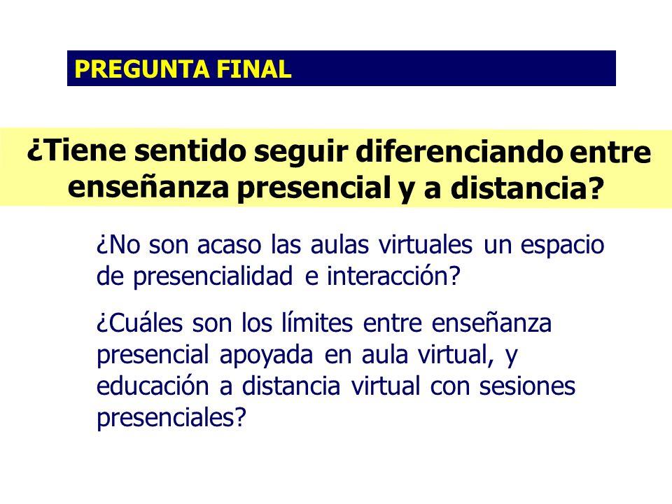¿Tiene sentido seguir diferenciando entre enseñanza presencial y a distancia.