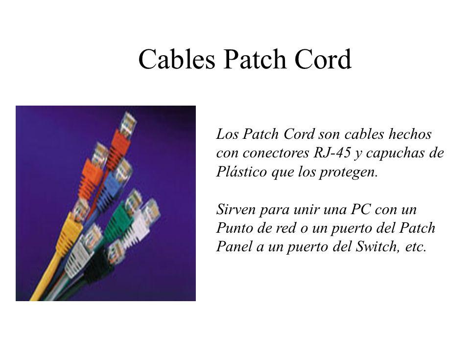 JACKS Los Jacks son unos conectores que sirven de intermediario entre el Patch Cord que conecta una PC al cable que llega al Pacth Panel.