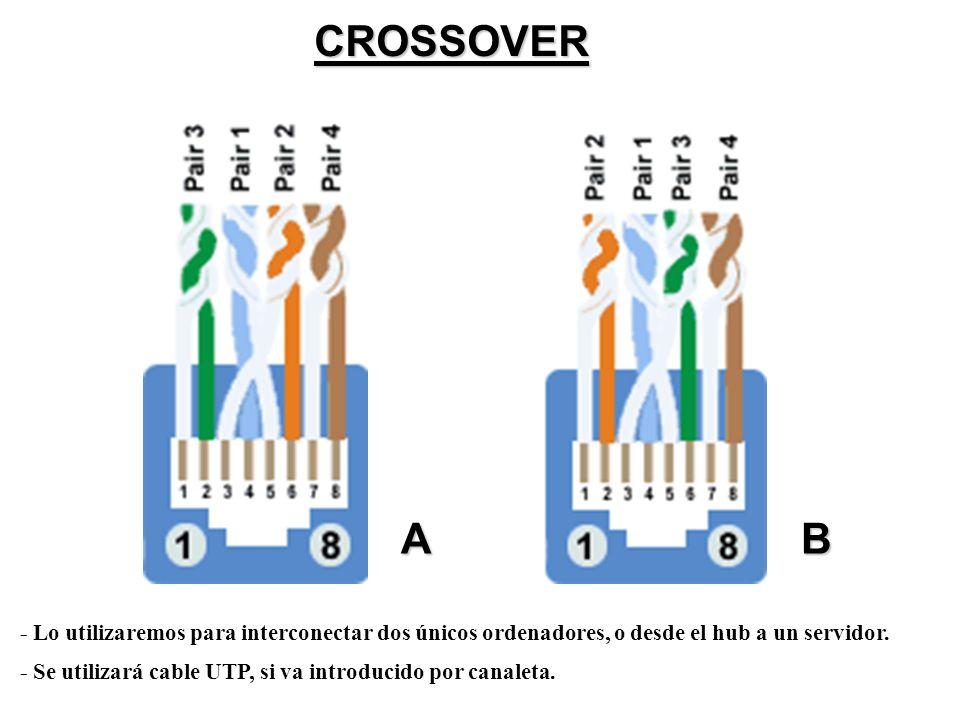 PRACTICA FINAL Crea tus propios cables de red con las siguientes características: Cable Punto –Punto (A-A ó B-B) Cable Cruzado (Crossover; A – B ó B-A) Cable AMP tolless