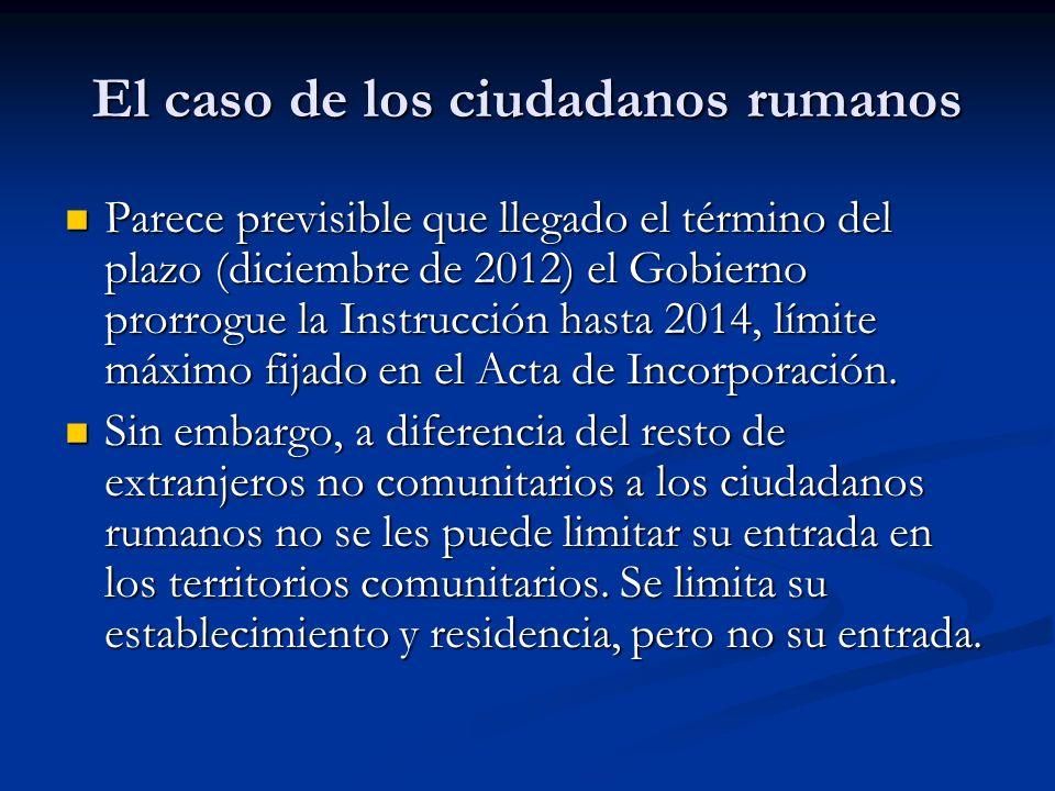 El caso de los ciudadanos rumanos Limitaciones del derecho de entrada y residencia por razones de orden público, seguridad pública o salud pública.