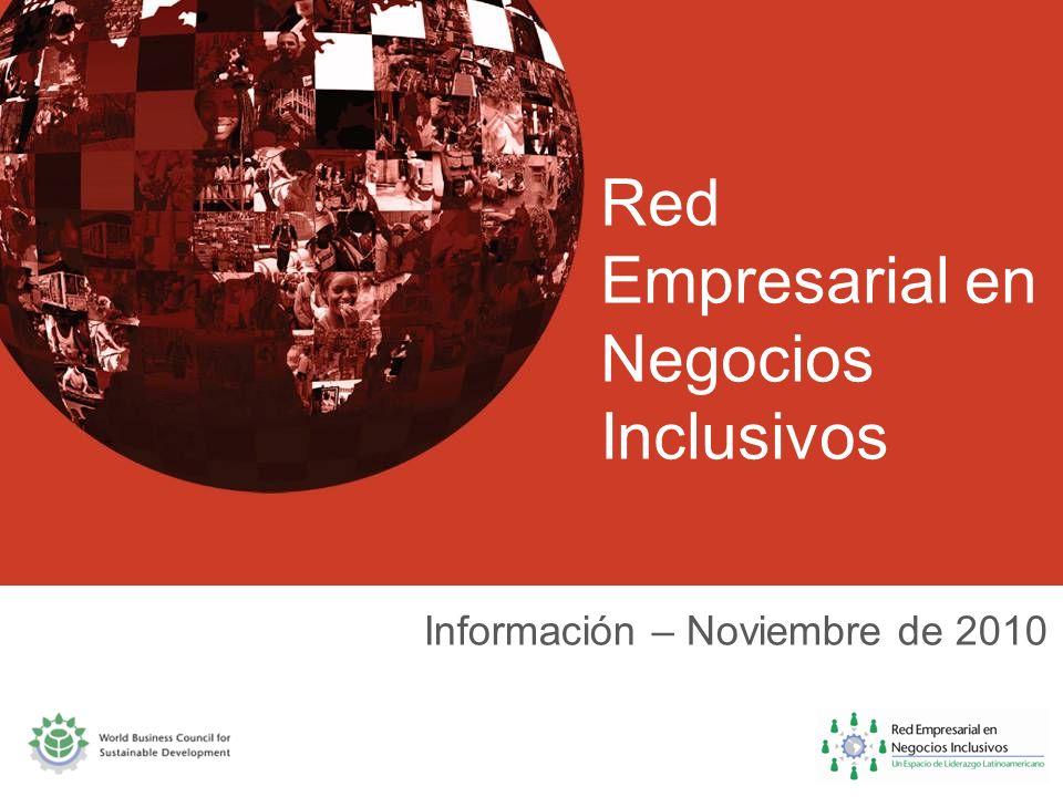 Red Empresarial en Negocios Inclusivos Información – Noviembre de 2010