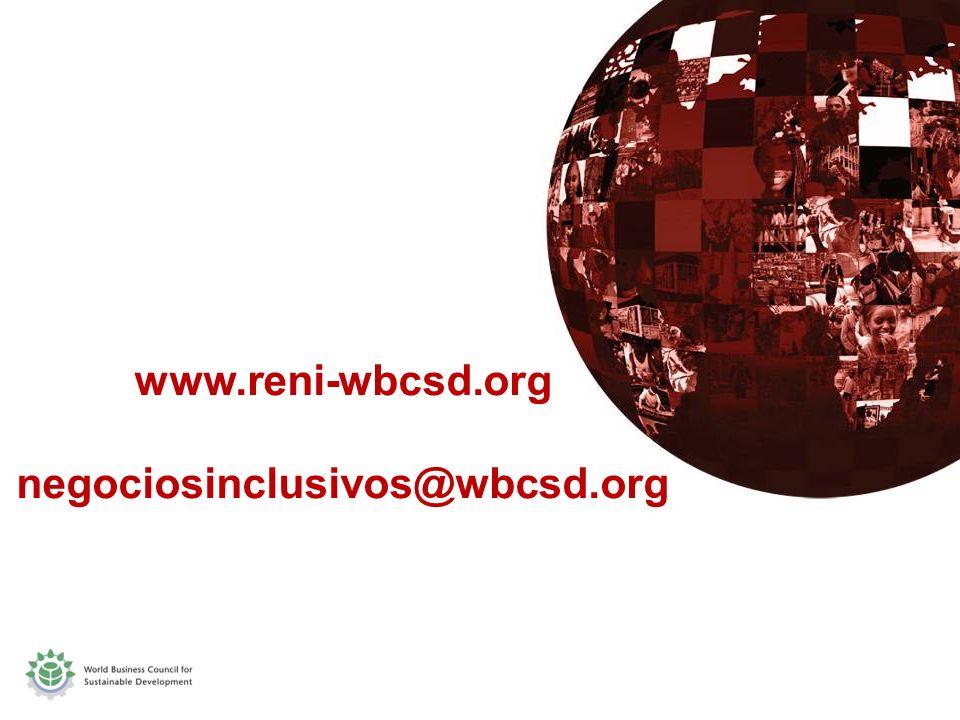www.reni-wbcsd.org negociosinclusivos@wbcsd.org