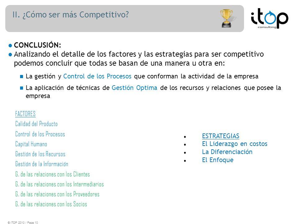 II. ¿Cómo ser más Competitivo.