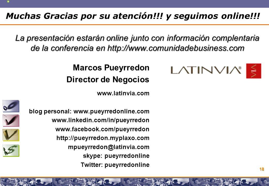Copyright © 2008 Marcos Pueyrredon Copyright © 2008 Marcos Pueyrredon 18 Muchas Gracias por su atención!!.