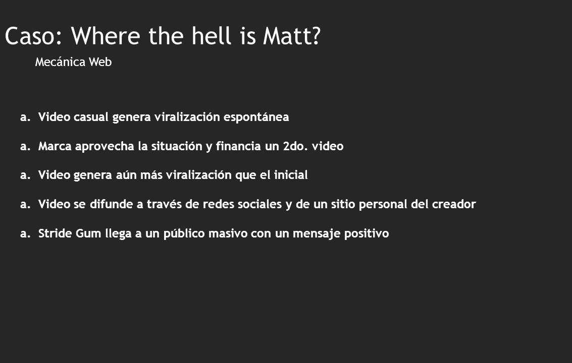 Mecánica Web a.Video casual genera viralización espontánea a.Marca aprovecha la situación y financia un 2do.
