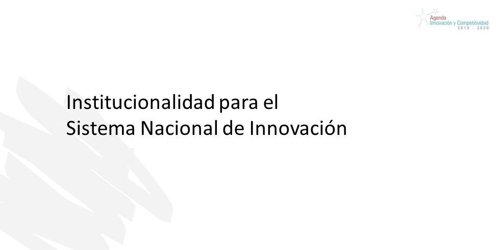 Institucionalidad para el Sistema Nacional de Innovación