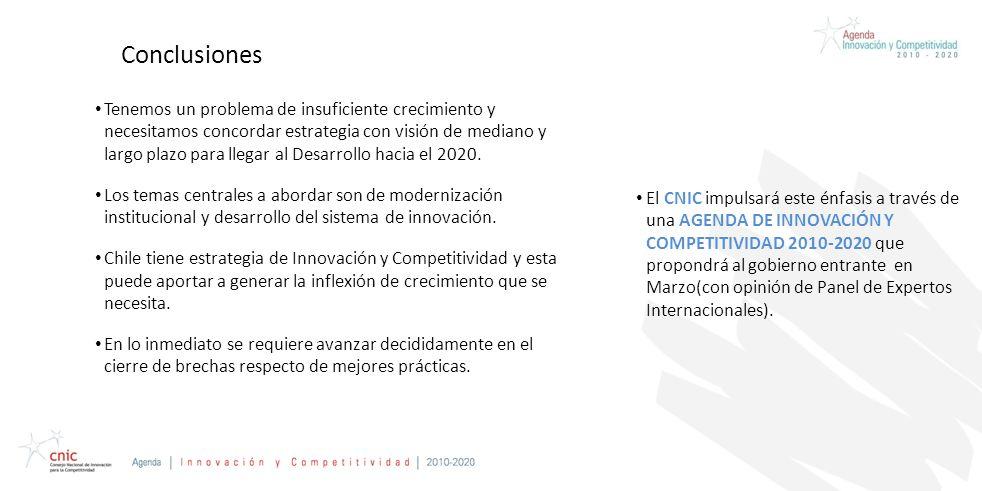 Credentials Presentation Prepared for CAP Conclusiones Tenemos un problema de insuficiente crecimiento y necesitamos concordar estrategia con visión de mediano y largo plazo para llegar al Desarrollo hacia el 2020.