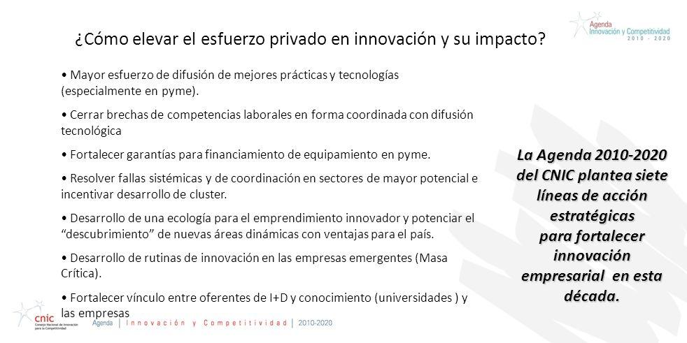 Credentials Presentation Prepared for CAP ¿Cómo elevar el esfuerzo privado en innovación y su impacto? Mayor esfuerzo de difusión de mejores prácticas