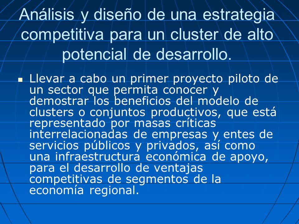 Análisis y diseño de una estrategia competitiva para un cluster de alto potencial de desarrollo.