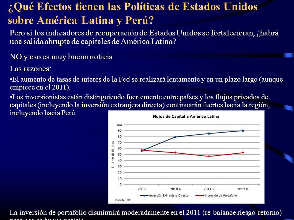 Pero si los indicadores de recuperación de Estados Unidos se fortalecieran, ¿habrá una salida abrupta de capitales de América Latina? NO y eso es muy