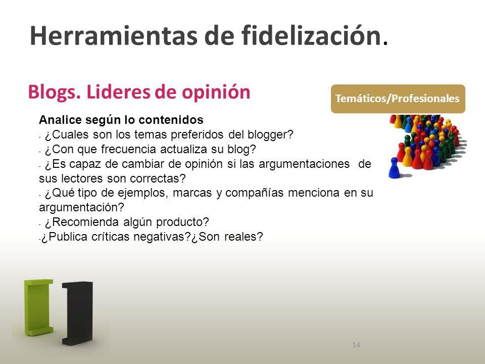 Herramientas de fidelización. Blogs.