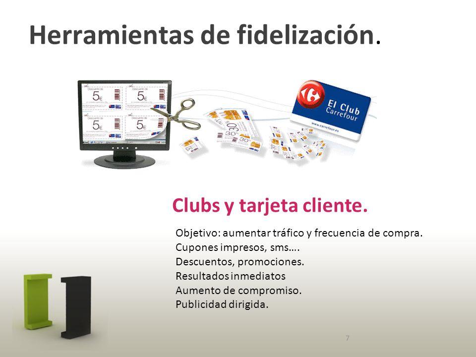 Herramientas de fidelización. Clubs y tarjeta cliente.