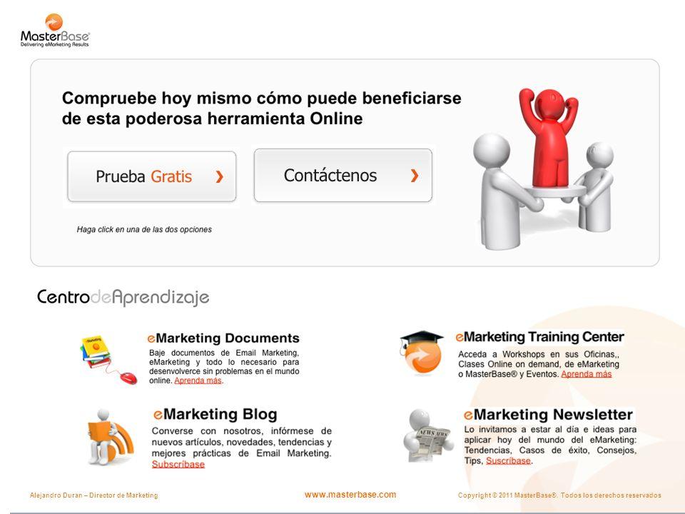 www.masterbase.com Copyright © 2011 MasterBase®. Todos los derechos reservados Alejandro Duran – Director de Marketing