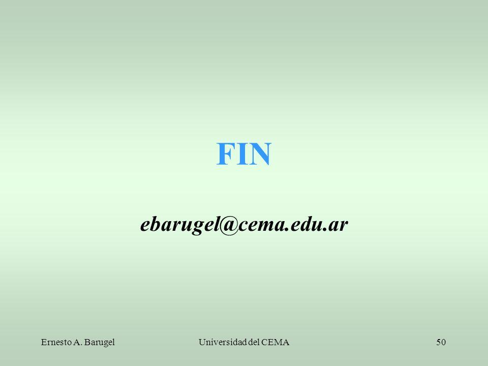 Ernesto A. BarugelUniversidad del CEMA50 FIN ebarugel@cema.edu.ar